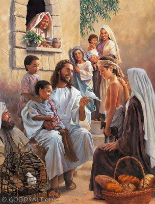 YESUS DAN ANAK-ANAK - YESUS SEDANG MENGAJAR ANAK-ANAK