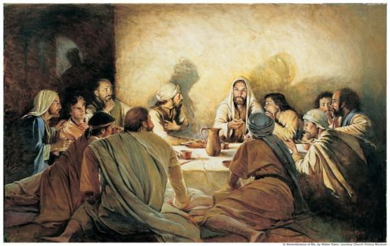 LAST SUPPER AFTER JUDAS LEFT