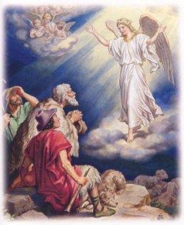 MALAIKAT-MALAIKAT MEMBERITAHUKAN KELAHIRAN TUHAN YESUS KEPADA PARA GEMBALA DI PADANG